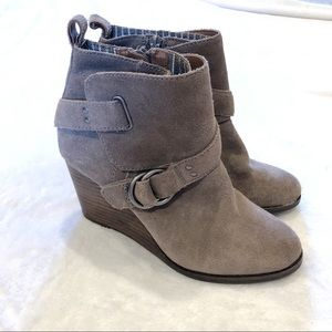 Lucky Brand | Suede Wedge Boots Sz 5